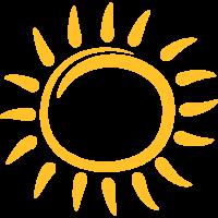 Sonne Spirale Wirbel Gesicht Smiley
