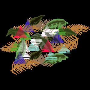 Palmen und Blätter