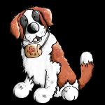 Fröhlicher Bernhardiner - Hund