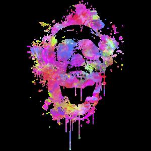 Trendy Abstrakt Totenschädel / Skull