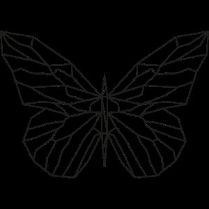 Geometrischer Schmetterlings-Aufkleber