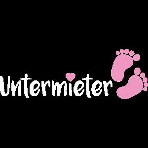 Babybauch Untermieter schwanger Geschenk Füße