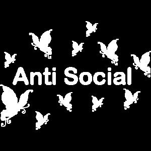 Butterfly Spruch Geschenk Social