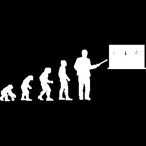 Lehrer Evolution Teacher Silhouette Geschenk Mathe