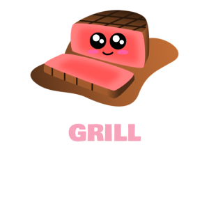 Es ist Grill-Zeit-lustiges Grillen-Wortspiel