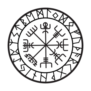 compass norse viking warrior odin thor barbar whit