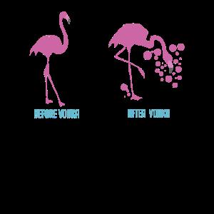 Flamingo Wodka Betrunken Wein Lustiges Geschenk