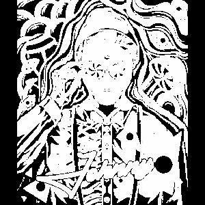 Psychedelisches Psychedelic Johnny Line Geschenk