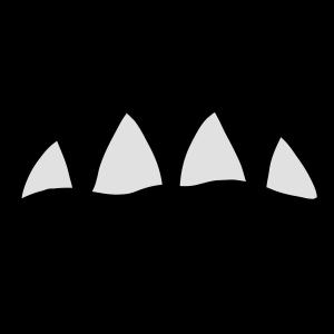 Monster Mund mit großen Zähnen