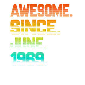 Awesome Since June 1969 T Shirt Vintage 50th Birth