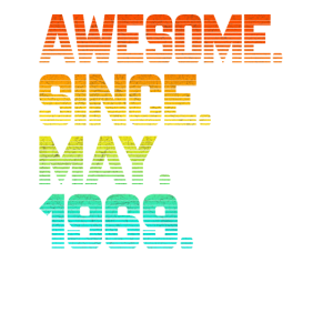 Awesome Since May 1969 T Shirt Vintage 50th Birthd