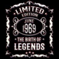 50. Geburtstag - Juni 1969 - Lustiges T-Shirt-