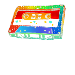 Mixtape Colorful T Shirt 80s Vintage