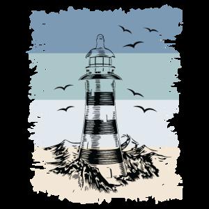 Leuchtturm Retro T-shirt