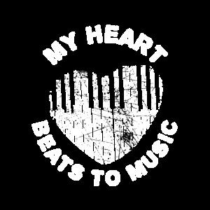 Klavier Piano Herz Beat Musikverein Geschenk
