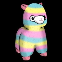 Regenbogen Alpaka Llama