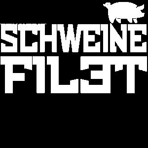 Schweine Filet T Shirt Geschenkidee