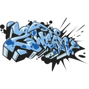 Dae 2Wear graffiti style ver02 LgtBlue edt.