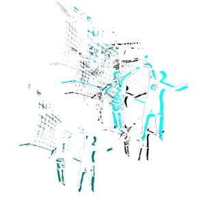 Volleyball Text Art