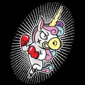 Boxer Einhorn Boxing Unicorn Lustig Geschenk