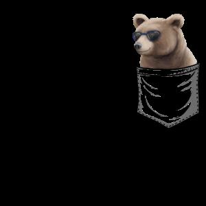 Grizzly mit Sonnenbrille | Bär In Brusttasche