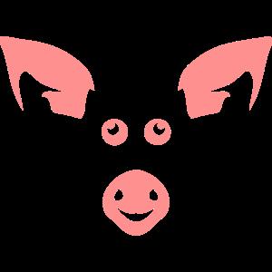 Schweinekopf Tierzeichnung 14