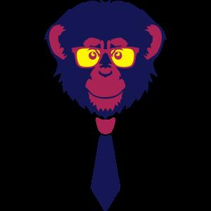 Schimpansenaffe Sonnenbrille Sonnenbrille Bindekopf 1