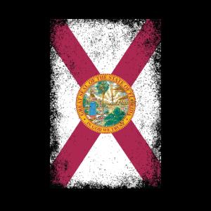 Florida Flagge Sunshine State vintage