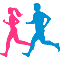 Jogger Paar bunt
