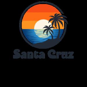 Santa Cruz City CA Distressed Retro Vintage 70s