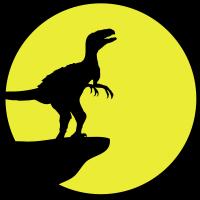 Heulender Raptor Vollmond Klippe