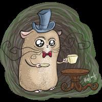 Sir Hamster mit einer Tasse Tee
