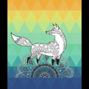 Mandala Fuchs Design Illustration