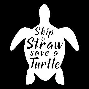 Skip a Straw Schildkröte Tierschutz T Shirt