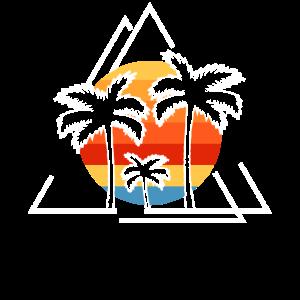 Drei Palmen Mit Zwei Dreiecken