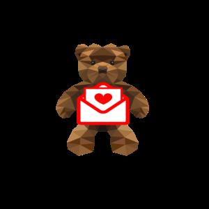 Teddy Liebesbrief Bärchen Kindermotiv Baby Kinder