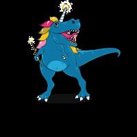 Lustiger Einhorn-Dinosaurierdruck - perfektes Geschenk