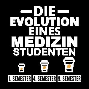 Medizin Student Kaffee Evolution Geschenk