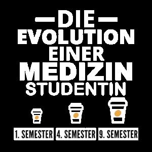 Medizin Studentin Kaffee Evolution Geschenk