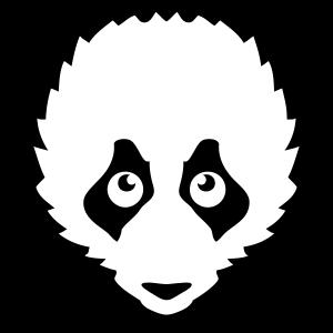 Panda Tierkopf Zeichnung 14