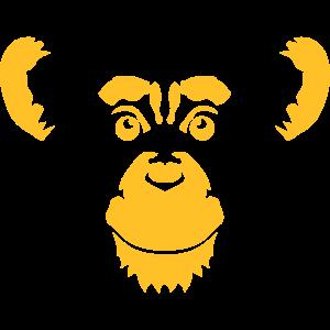 Schimpansen-Affenkopf-Tierzeichnung