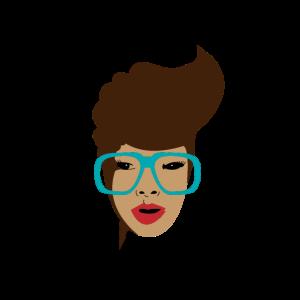Frau mit Brille R&B Brünette Sexy Hübsch Geschenk