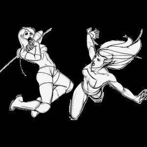 Kampf Frauen Skizze