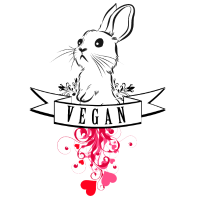 Vegan Bunny Rabbit Hase Kaninchen Vegetarier