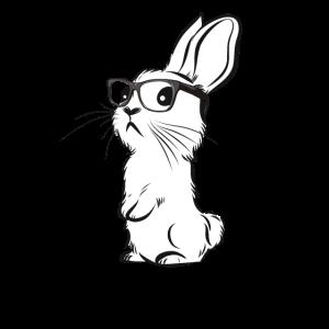Hipster Bunny Rabbit Hippie Hase mit Brille
