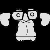 Professor Nerd Geek Hornbrille schlauer Affe