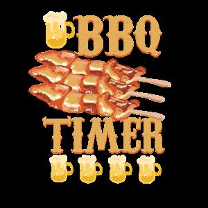 BBQ Timer, lustiges BBQ Shirt