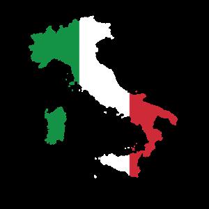 Italien Karte Italienische Flagge Geschenk