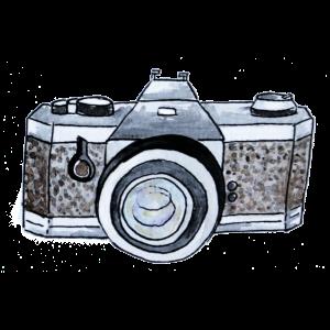 Kamera in Aquarell