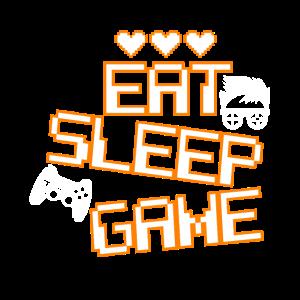 Eat Sleep Game Witziges Gaming Shirt